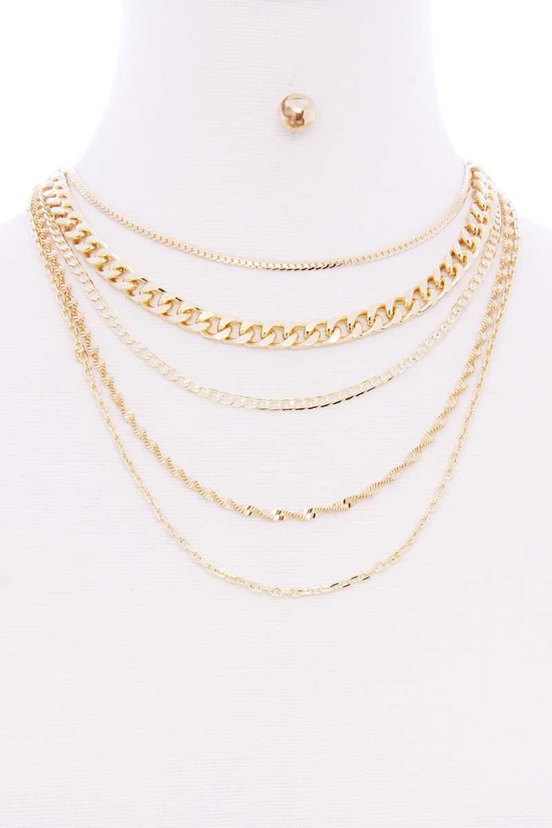 Danielle Layered Necklace Set