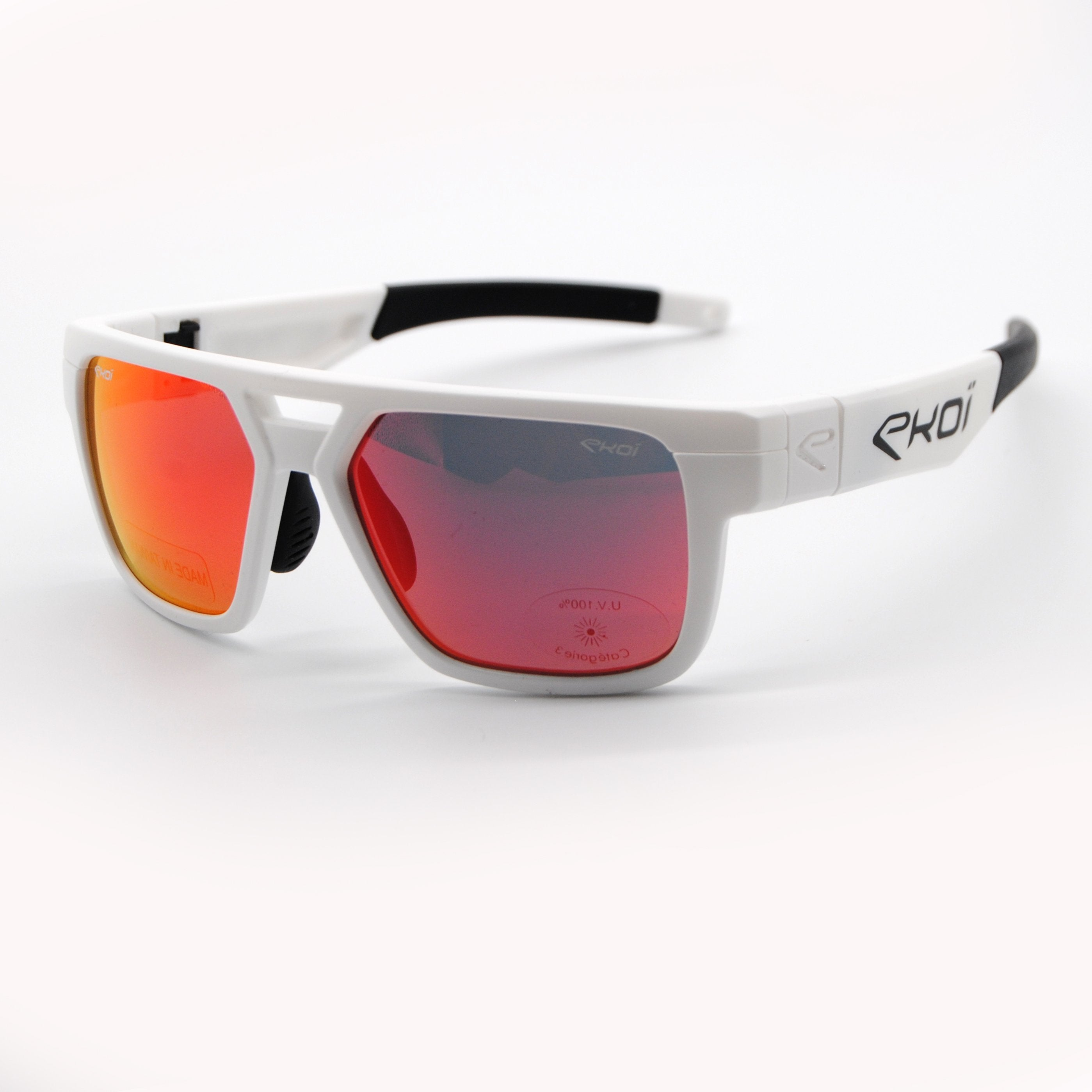 EKOI SPORT FASHION SUNGLASSES WHITE RED