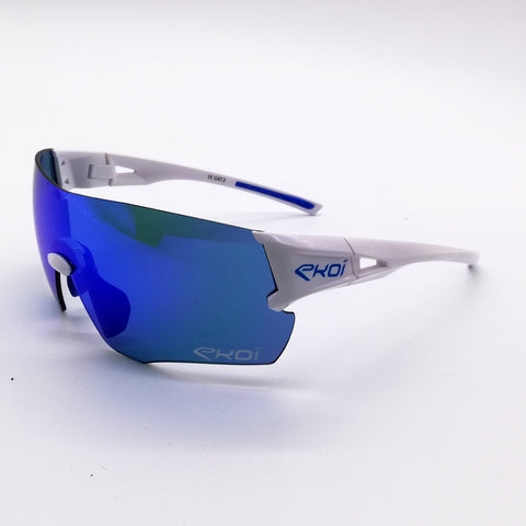EKOI PERF SUNGLASSES WHITE REVO BLUE