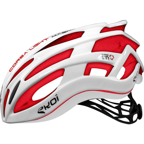 EKOI CORSA LIGHT 2017 WHITE RED HELMET