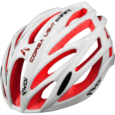 EKOI CORSA LIGHT WHITE RED HELMET