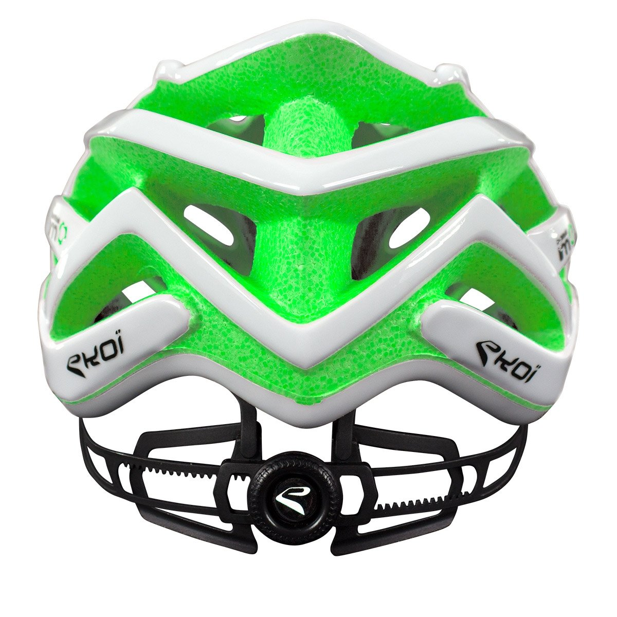 EKOI CORSA LIGHT WHITE GREEN HELMET