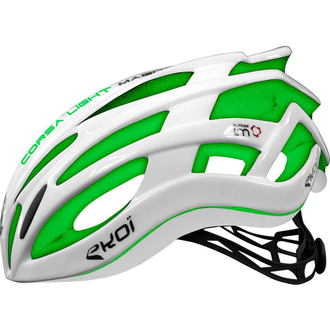 EKOI CORSA LIGHT 2017 WHITE GREEN HELMET