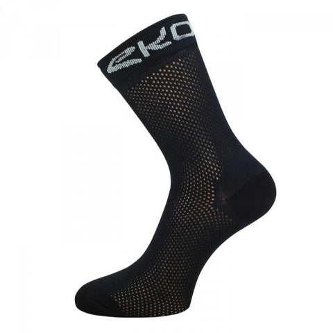 EKOI PERFORATO BLACK SOCKS