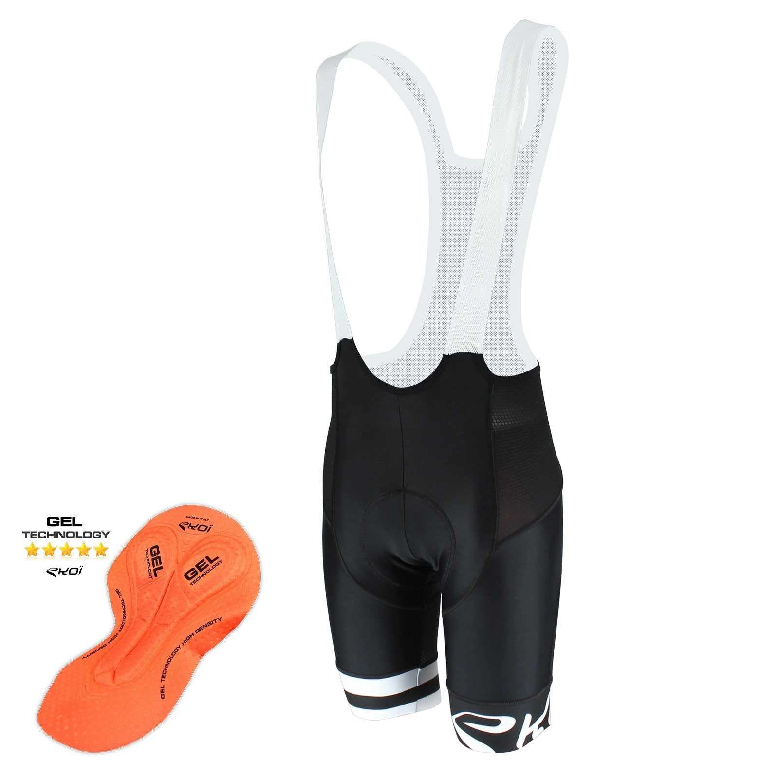 EKOI CORSA LIGHT GEL WHITE BIB SHORTS
