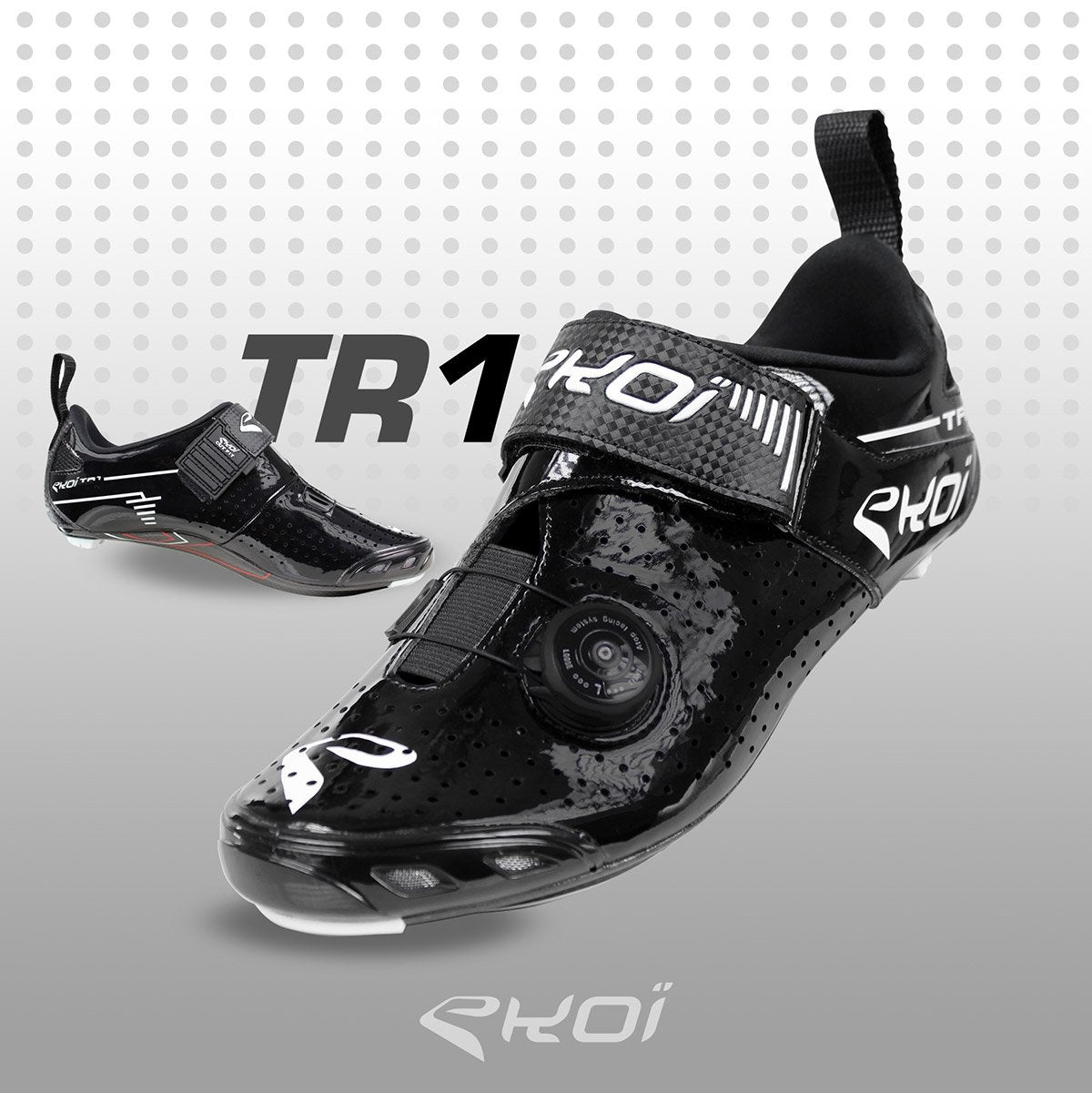 EKOI TR1 LD CARBON BLACK TRIATHLON SHOES