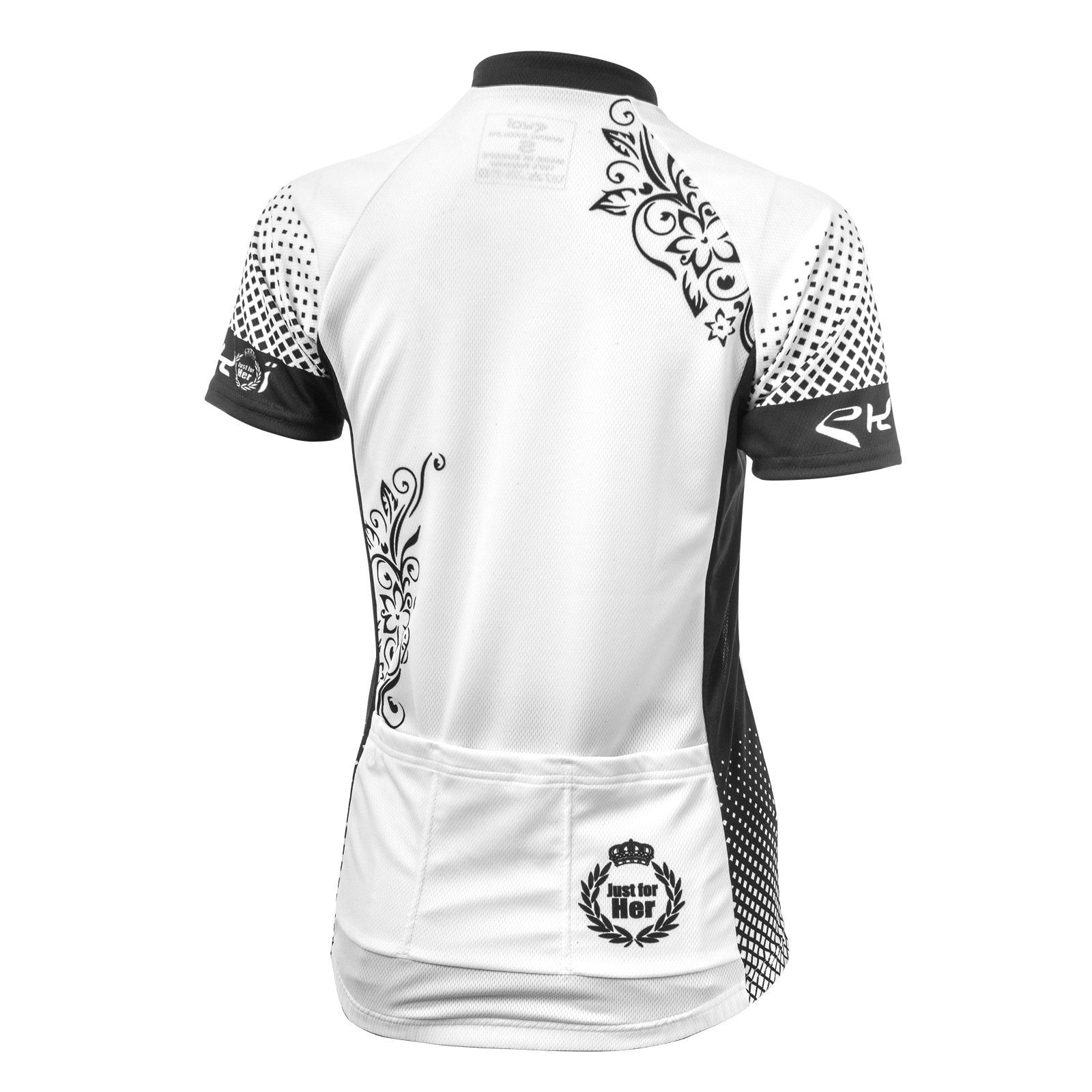EKOI JUST FOR HER WOMEN'S JERSEY SHORT SLEEVE WHITE