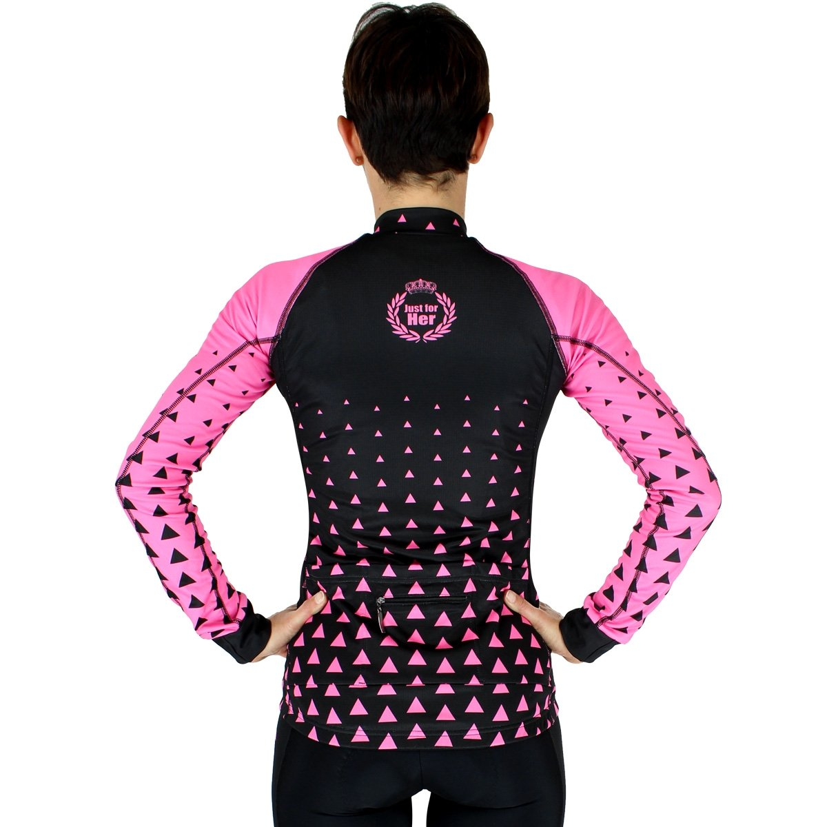 EKOI LADY TRIANGLE LONG SLEEVE JERSEY PINK