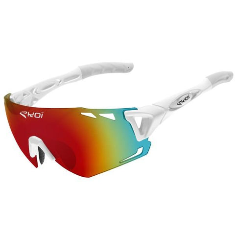 EKOI PERSO EVO 6 SUNGLASSES - WHITE REVO RED