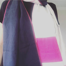 Load image into Gallery viewer, REMADE: PINK, NAVY & DENIM SCARF