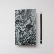 Load image into Gallery viewer, Black Marbled Hardcover Journal/Sketchbook