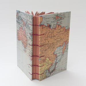 Vintage World Map Hardcover Journal/Sketchbook
