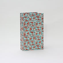 Load image into Gallery viewer, Blue and Orange Tile Pattern Hardcover Journal/Sketchbook