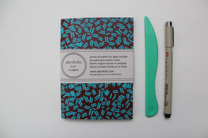 Red Sprinkle Pattern Screen Printed Pocket Notebook with Blank Recycled Paper