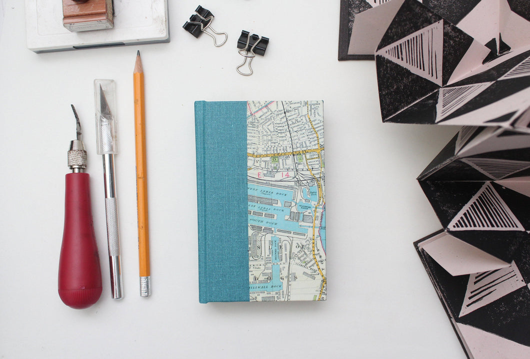 London Map Miniature Hardcover Drawing Sketchbook