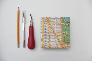 Mini Square Hardcover Travel Journal NYC Map