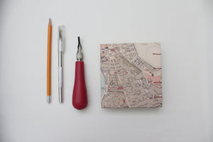 Mini Square Hardcover Travel Journal Rome Map