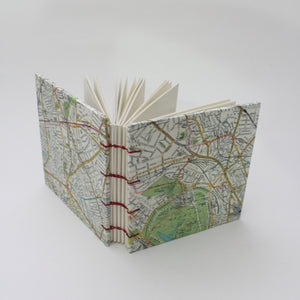 Mini Square Hardcover Travel Journal London Map