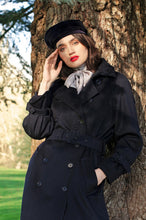 Load image into Gallery viewer, Bespoke Navy Trench Coat Sarah Badeni