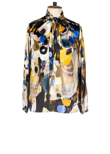 Abstract Print Luxury Blouse