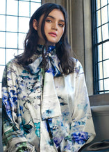 Load image into Gallery viewer, Pure Silk Watercolour Blouse