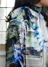 Load image into Gallery viewer, Luxury Silk Watercolour Blouse Details