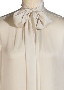 winter white bow blouse | sarah badeni