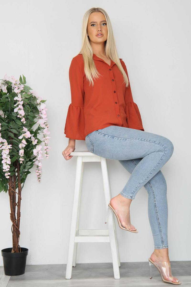 Rusty Flare Sleeve Button Shirts