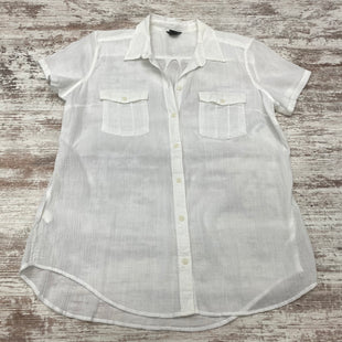 Primary Photo - BRAND: EDDIE BAUER STYLE: BLOUSE SHORT SLEEVE COLOR: WHITE SIZE: L SKU: 180-18083-25086