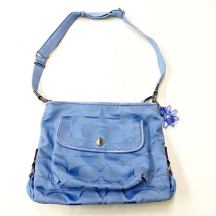 Primary Photo - BRAND: COACH STYLE: HANDBAG DESIGNER COLOR: BABY BLUE SIZE: MEDIUM OTHER INFO: F16550 SKU: 180-18083-20910