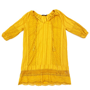 Primary Photo - BRAND: DOE & RAE STYLE: DRESS SHORT LONG SLEEVE COLOR: MUSTARD SIZE: S SKU: 180-18057-10973