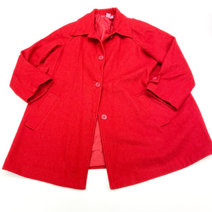 Primary Photo - BRAND: WOMAN WITHIN STYLE: COAT WOOL COLOR: RED SIZE: XL OTHER INFO: (14W) AS IS SKU: 180-18083-21540