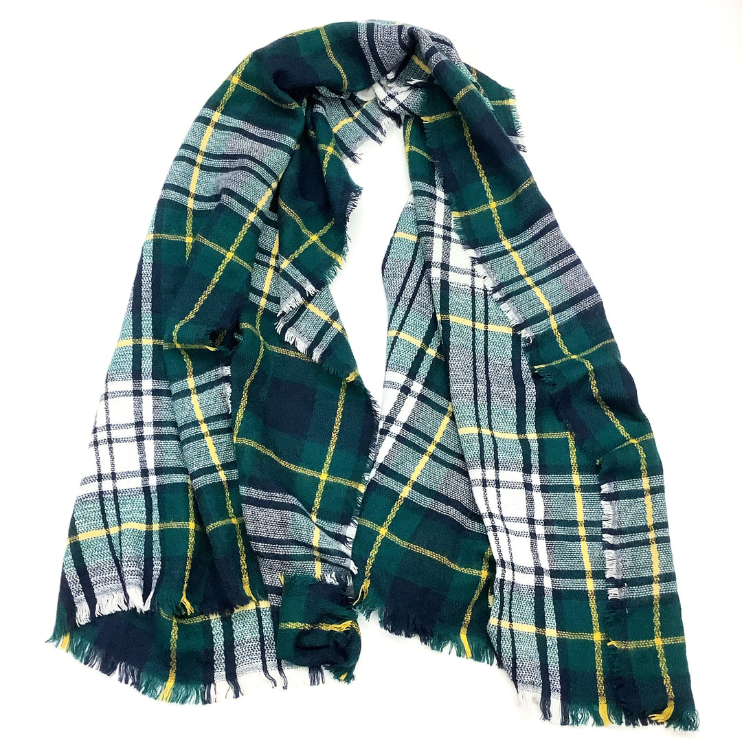Photo #1 - BRAND:    CLOTHES MENTOR <BR>STYLE: SCARF WINTER <BR>COLOR: BLUE GREEN <BR>SKU: 180-18071-9267