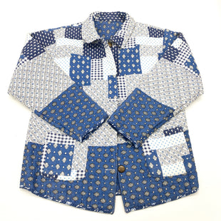 Primary Photo - BRAND:    CLOTHES MENTOR STYLE: JACKET OUTDOOR COLOR: BLUE WHITE SIZE: L SKU: 180-18083-23836