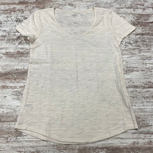 Primary Photo - BRAND: ANN TAYLOR LOFT O STYLE: TOP SHORT SLEEVE BASIC COLOR: CREAM SIZE: S SKU: 180-18071-11711
