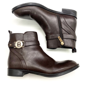 Primary Photo - BRAND: TOMMY HILFIGER STYLE: BOOTS ANKLE COLOR: BROWN SIZE: 7.5 SKU: 180-18071-4247