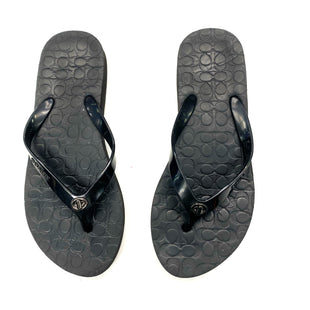 Primary Photo - BRAND: COACH STYLE: FLIP FLOPS COLOR: BLACK SIZE: 6 OTHER INFO: DESIGNER SKU: 180-18071-10668