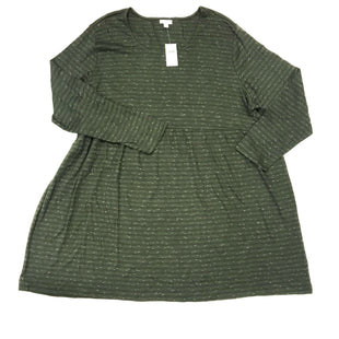 Primary Photo - BRAND: J JILL STYLE: DRESS SHORT LONG SLEEVE COLOR: GREEN SIZE: 4X SKU: 180-18038-105511