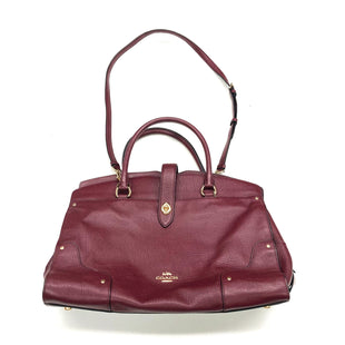 Primary Photo - BRAND: COACH STYLE: HANDBAG DESIGNER COLOR: BURGUNDY SIZE: MEDIUM OTHER INFO: F37167, MERCER SATCHEL, RETAIL $450, AS IS SKU: 180-18083-20773