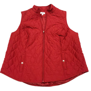 Primary Photo - BRAND: CROFT AND BARROW O STYLE: VEST COLOR: RED SIZE: 3X SKU: 180-18083-19724