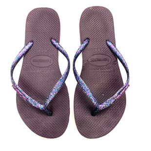 Primary Photo - BRAND: HAVAIANAS STYLE: FLIP FLOPS COLOR: PURPLE SIZE: 8.5 SKU: 180-18071-10536