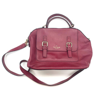 Primary Photo - BRAND: KATE SPADE STYLE: HANDBAG DESIGNER COLOR: BURGUNDY SIZE: MEDIUM OTHER INFO: AS IS INSIDE & CORNERS SKU: 180-18095-212