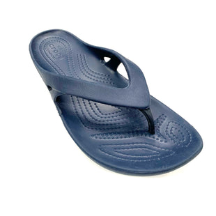 Primary Photo - BRAND: CROCS STYLE: FLIP FLOPS COLOR: NAVY SIZE: 8 SKU: 180-18083-25024
