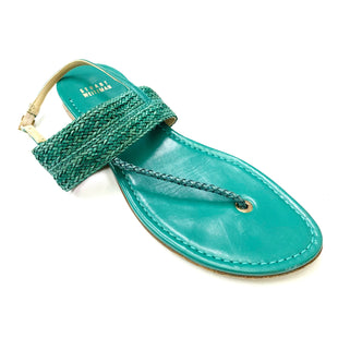 Primary Photo - BRAND: STUART WEITZMAN STYLE: SANDALS FLAT COLOR: TURQUOISE SIZE: 8.5 OTHER INFO: LEATHER SKU: 180-18038-99165