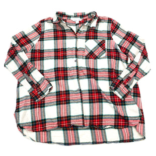 Primary Photo - BRAND: OLD NAVY STYLE: BLOUSE COLOR: RED PLAID SIZE: 2X OTHER INFO: XXL SKU: 180-18071-11408