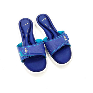 Primary Photo - BRAND: NIKE STYLE: SANDALS FLAT COLOR: BLUE WHITE SIZE: 10 SKU: 180-18071-10996