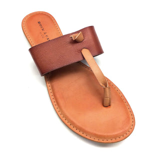 Primary Photo - BRAND: ROCK AND CANDY STYLE: FLIP FLOPS COLOR: TAN SIZE: 10 SKU: 180-18038-92151