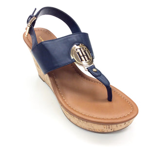 Primary Photo - BRAND: TOMMY HILFIGER STYLE: SANDALS LOW COLOR: NAVY SIZE: 6.5 SKU: 180-18083-16656