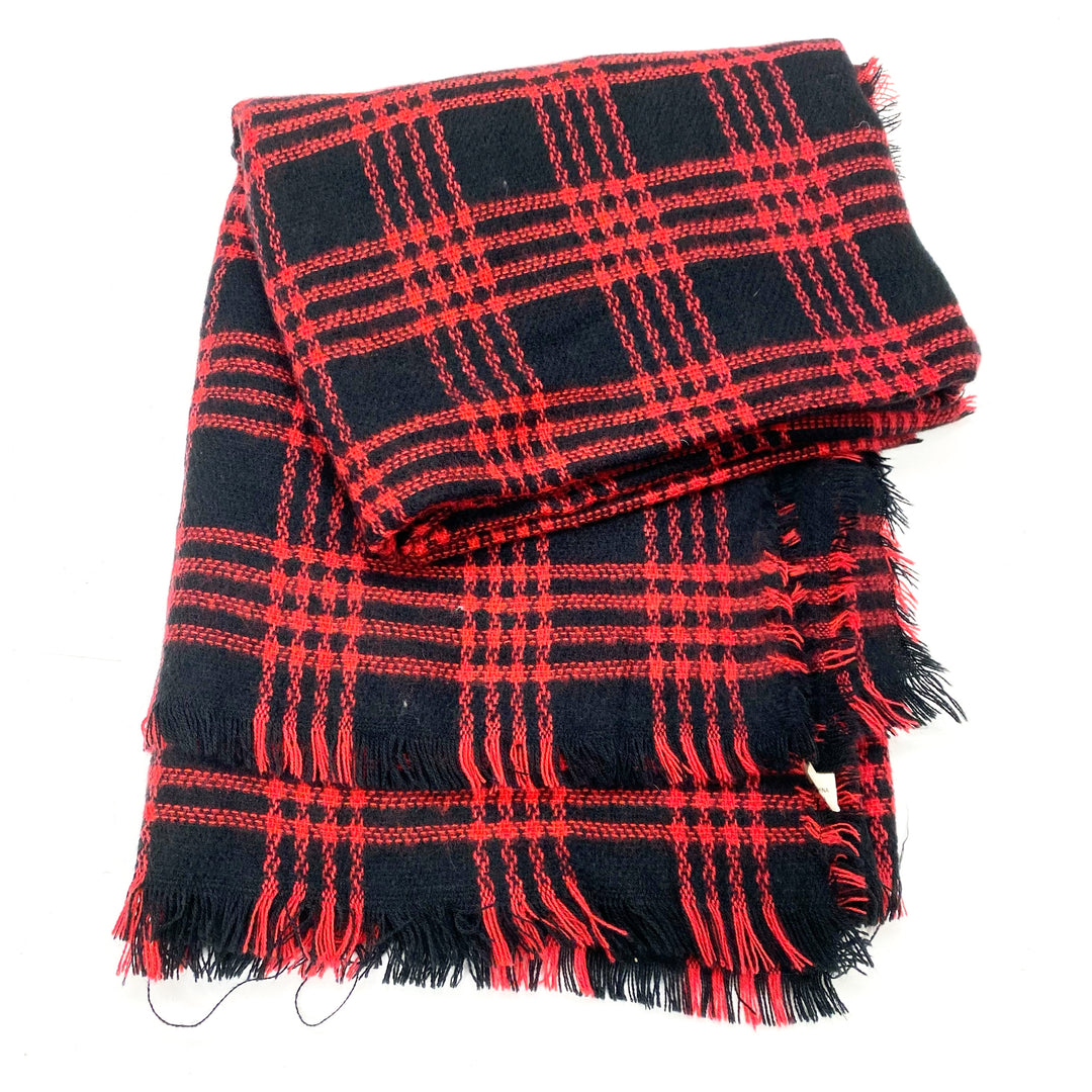 Photo #1 - BRAND:    CLOTHES MENTOR <BR>STYLE: SCARF WINTER <BR>COLOR: RED BLACK <BR>SKU: 180-18038-105618