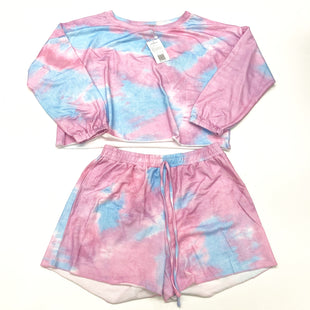 Primary Photo - BRAND:    CLOTHES MENTOR STYLE: PANTS SUIT 2PC COLOR: TIE DYE SIZE: XL OTHER INFO: PRETTY GARDEN - ATHLETIC SHORTS SET SKU: 180-18083-24992